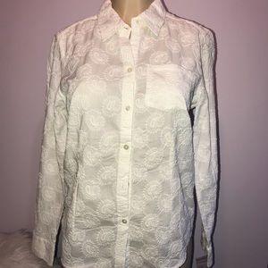 Charter Club NWT Woven Long Sleeve Shirt